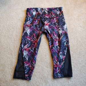 Champion gently worn colorful cropped workout pant
